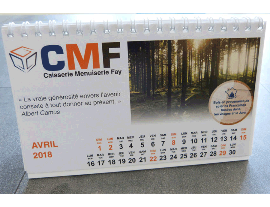Calendrier CMF